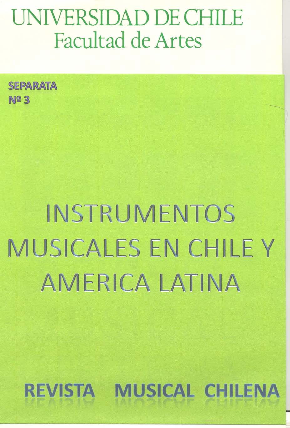 Instrumentos Musicales en Chile y America Latina